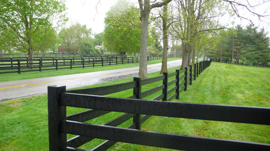 WindRiver HDPE 4 Rail Fence in Oregon